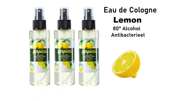 Eau de cologne Lemon125 ml 80°- Desinfecterend-Limon Kolonya